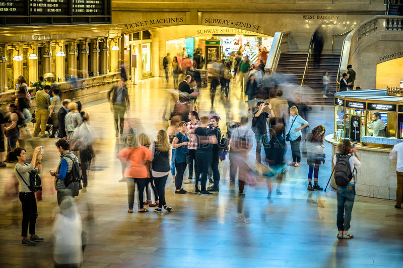 Grand Central Subway Station in Manhattan on a buzy Day at around 4PM stock photos