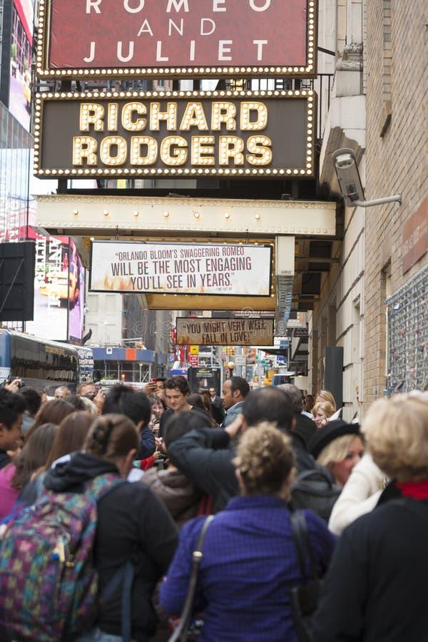 NEW-YORK, USA - OCTOBER 9: Orlando Bloom gives autographs prior royalty free stock photos