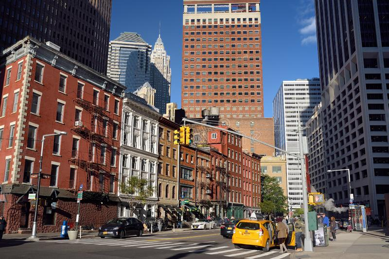 NEW YORK, USA - OCTOBER 21, 2018: Street of Manhattan. Typical life of New York city stock photos