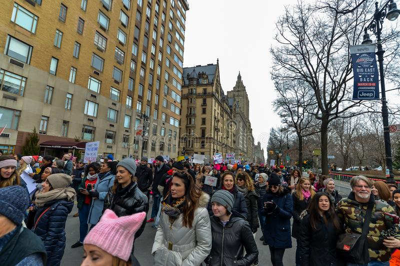 Women`s March 2019 - New York City royalty free stock photography
