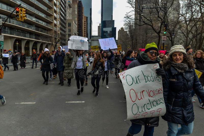 Women`s March 2019 - New York City royalty free stock photo