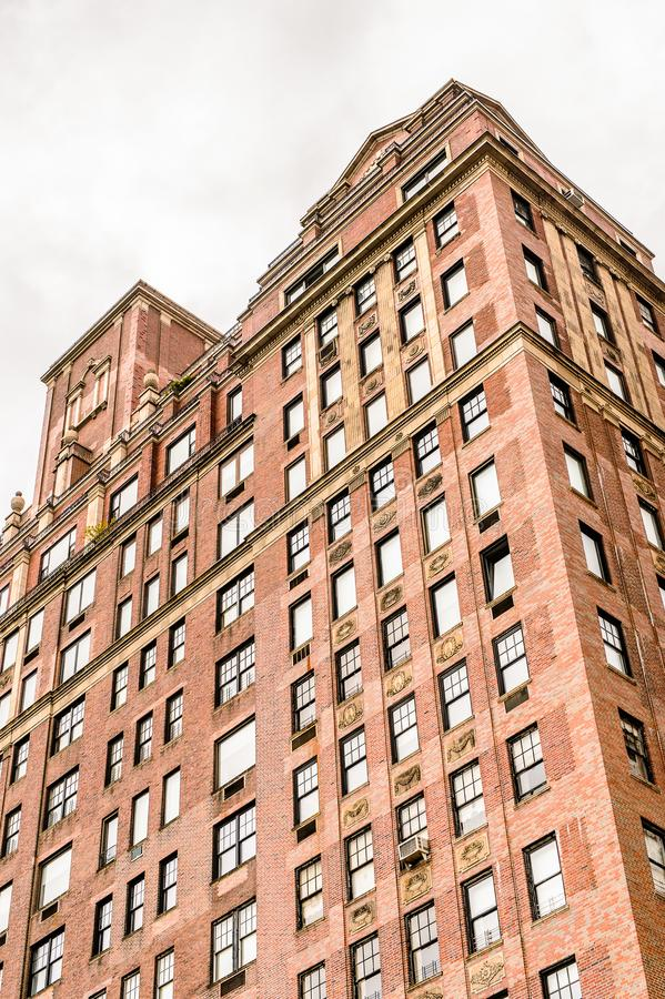 Architecture of New York, USA. NEW YORK, USA - SEP 22, 2015: Architecture of the Eighth avenue (Manhattan). 8 avenue begins in the West Village neighborhood at stock photography