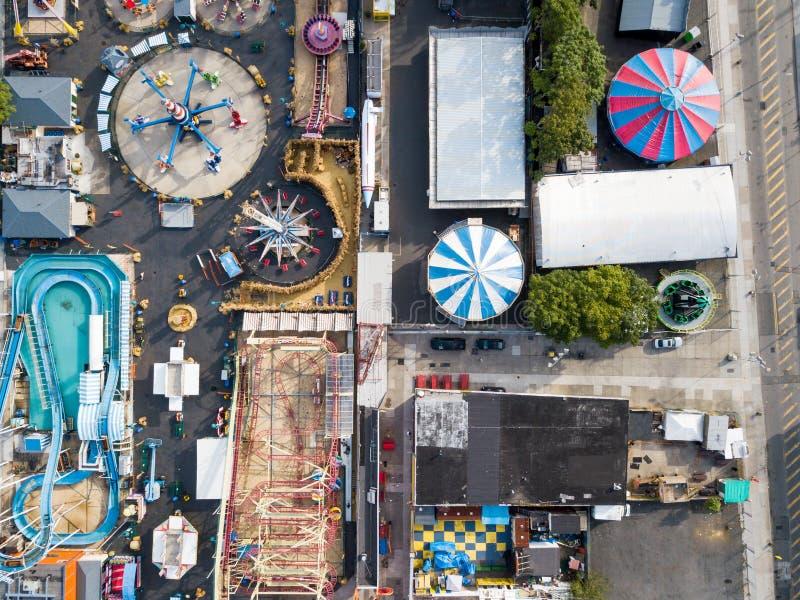 NEW YORK, USA - SEPTEMBER 26, 2017: Coney island amusement park stock photo