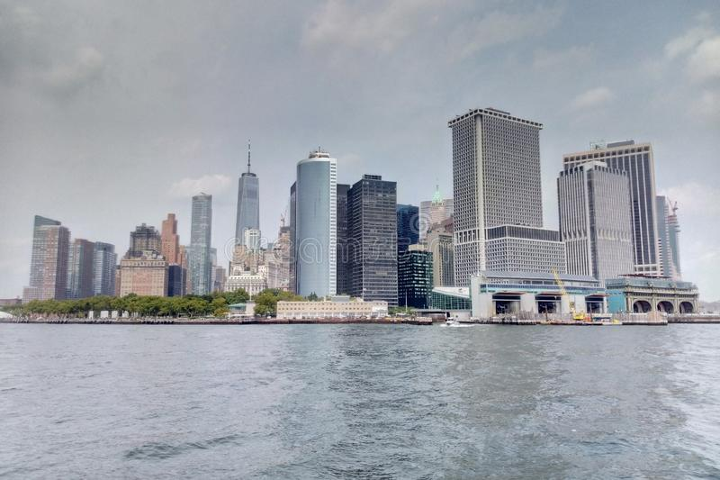 New York USA - September 2, 2018: Sikt av New York royaltyfri fotografi