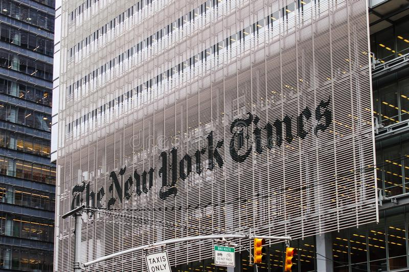 The New York Times Building stock photos