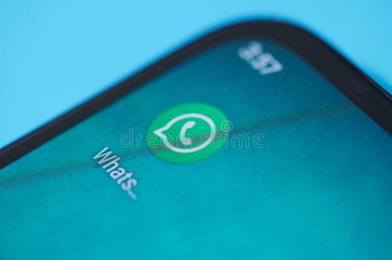 Whatsapp application icon royalty free stock photography