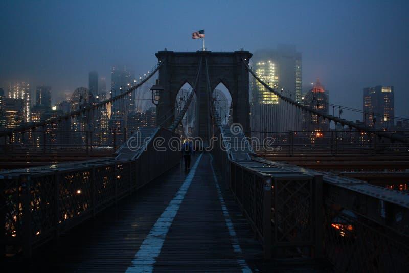 New York van de Brug van Brooklyn stock afbeeldingen