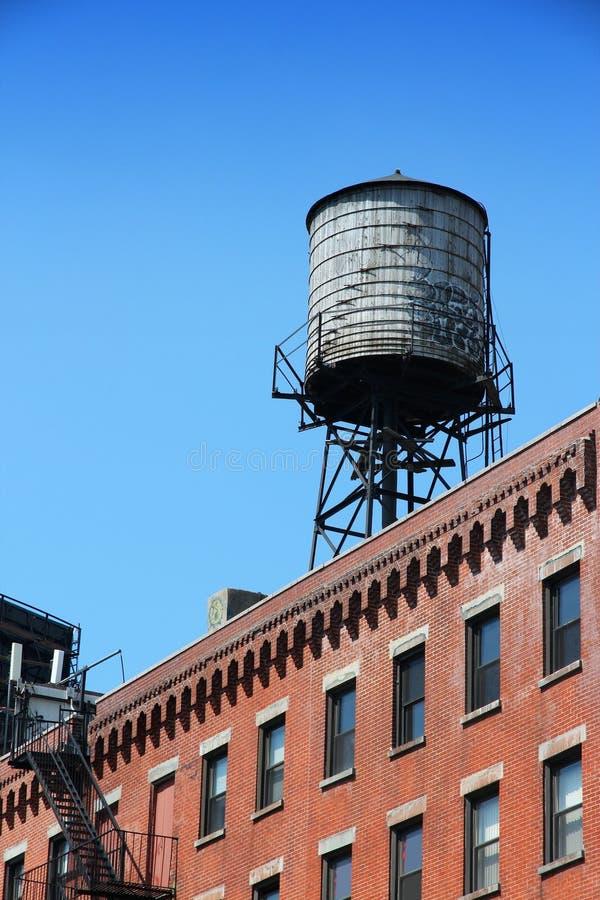 New York vattentorn royaltyfria foton