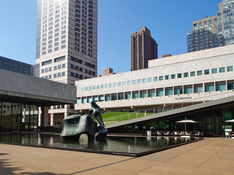 New York - Verenigde Staten, Paul Milstein Pool in Lincoln Center Square in New York royalty-vrije stock foto