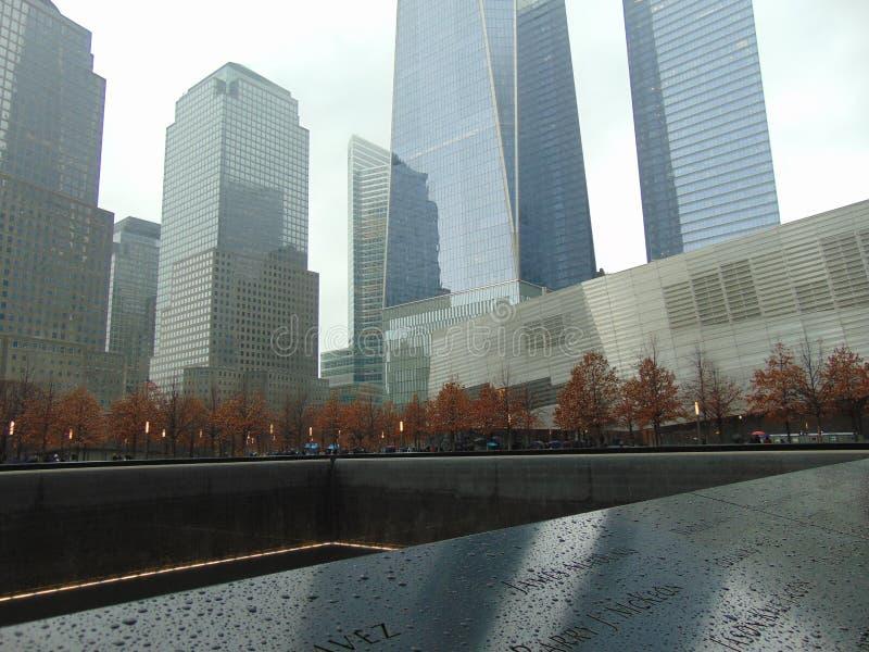 New York 9/11 vergeet nooit royalty-vrije stock afbeelding