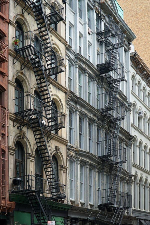 New York, vieux immeubles images libres de droits