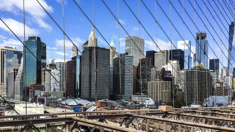 New York von der Brooklyn-Brücke stockfotografie