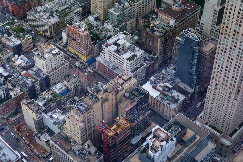 New York - vue de ciel images libres de droits