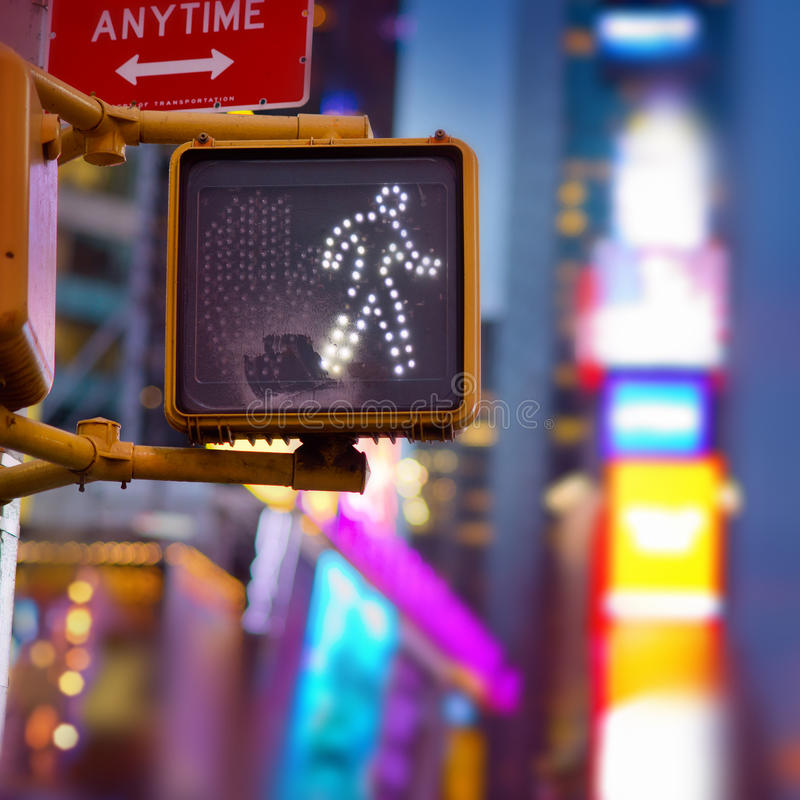 New York Walk Sign. A New York pedestrian walk sign stock photo