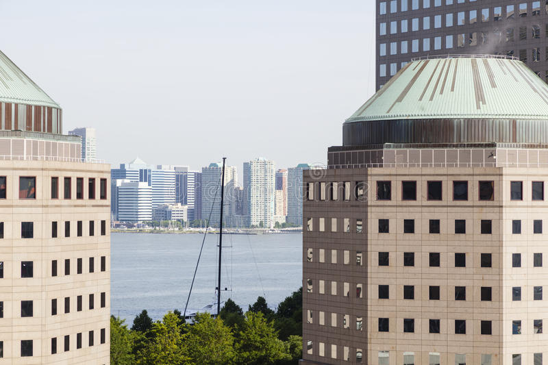 New York World Financial Center. And Hudson River stock photography