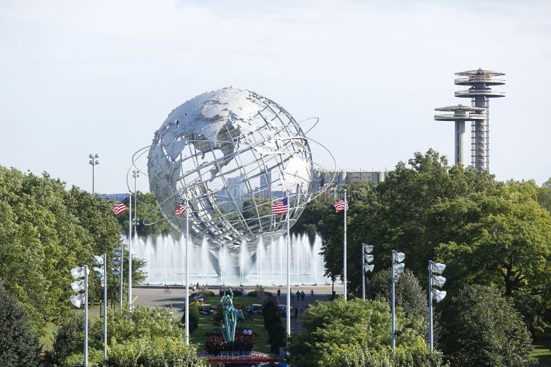 1964 New York World s Fair Unisphere in Flushing Meadows Park royalty free stock photos