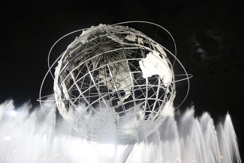 1964 New York World s Fair Unisphere at night stock photos
