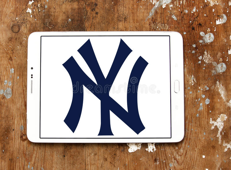 New York Yankees, logo ny de club de sports photos libres de droits