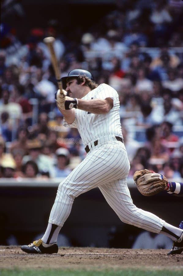 New York Yankeeslegend Thurman Munson royaltyfria foton