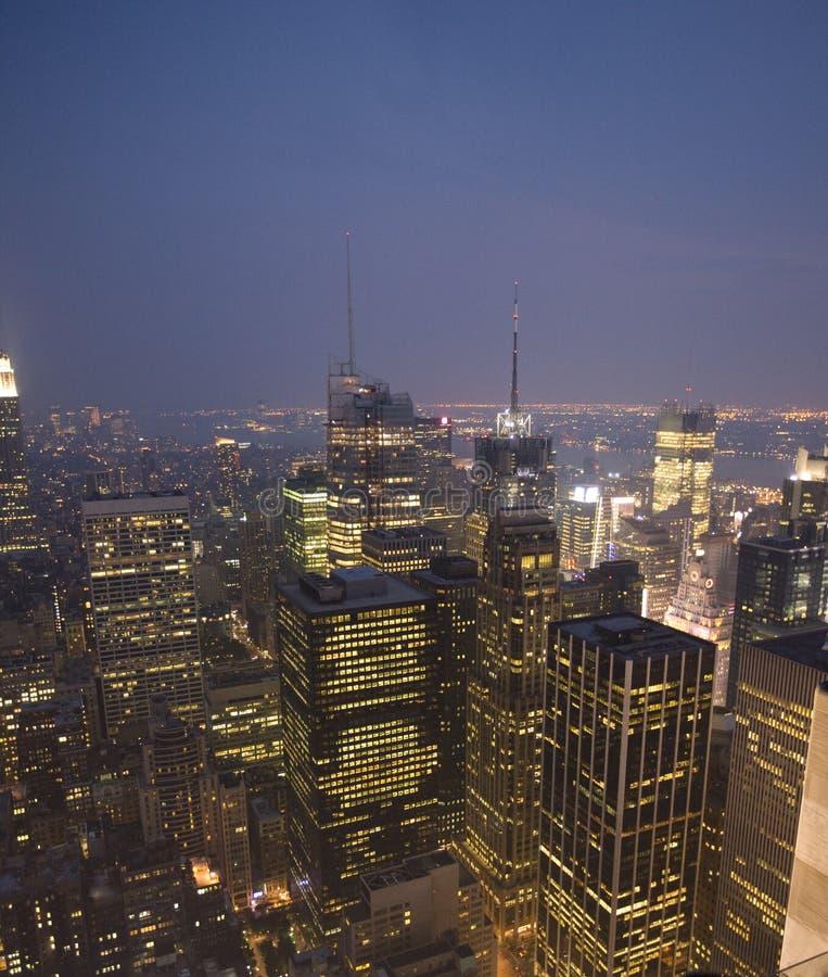 New York, zonsondergang stock foto
