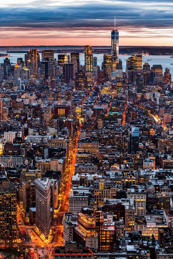 New- Yorkantennenstadtbild stockfotografie