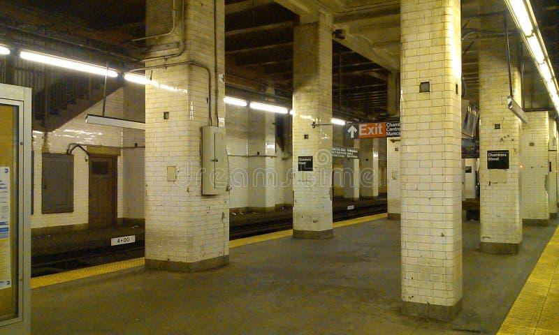 New- Yorkbahnstations-Kammer-Straße stockfotos