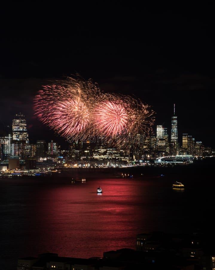 New- Yorkfeuerwerke stockfoto