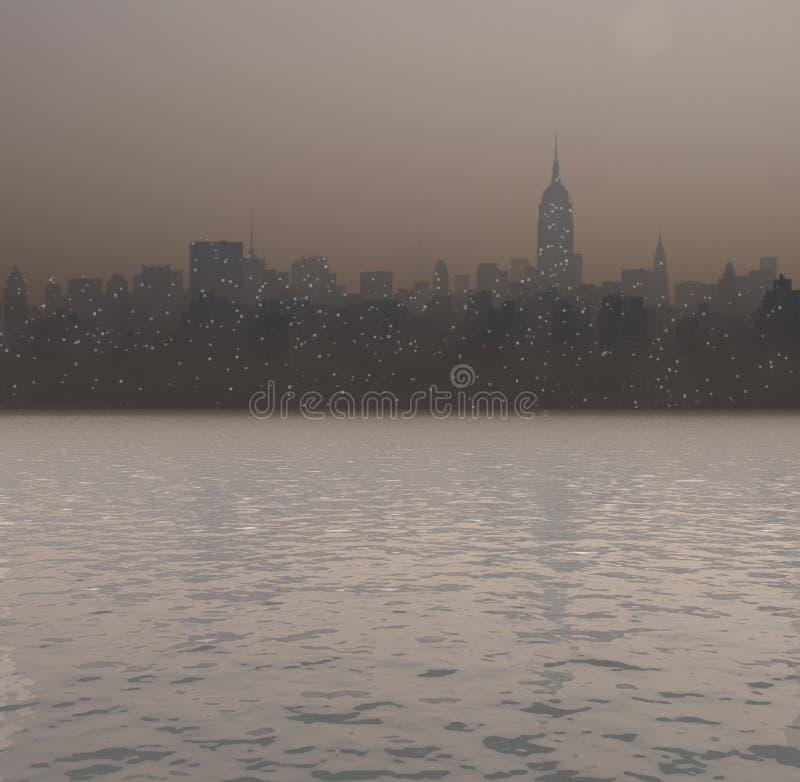 New- Yorkhafen stock abbildung