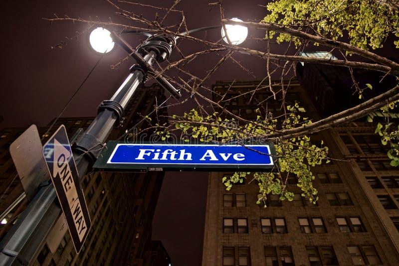 New- Yorklandschaften in der Nacht lizenzfreie stockfotos