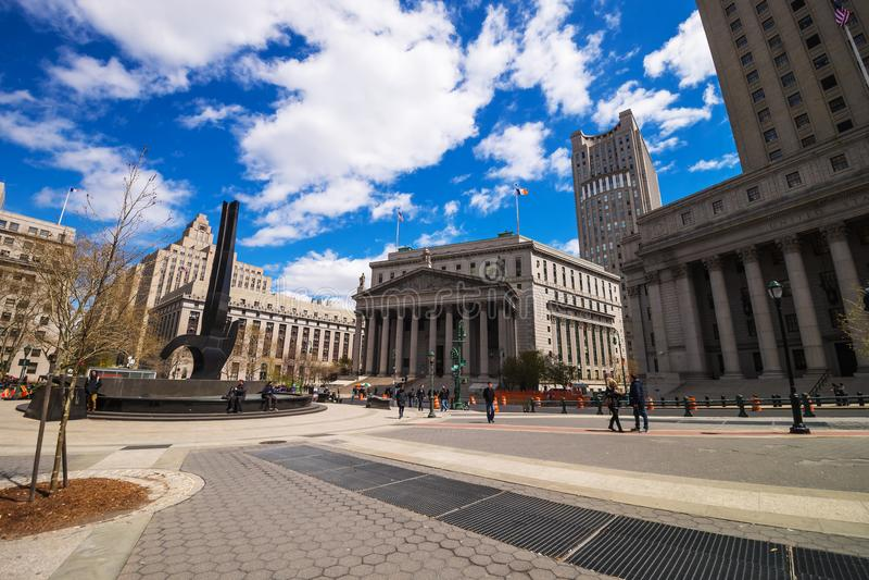 New- Yorkoberstes gericht im Frühjahr NYC stockbild