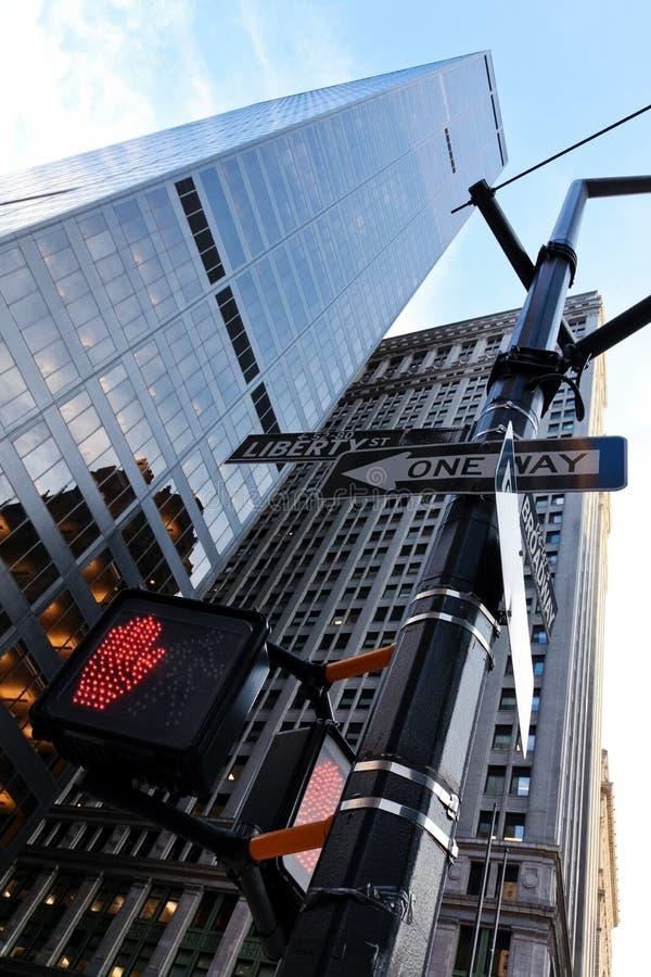 New Yorkone-way lizenzfreie stockfotografie