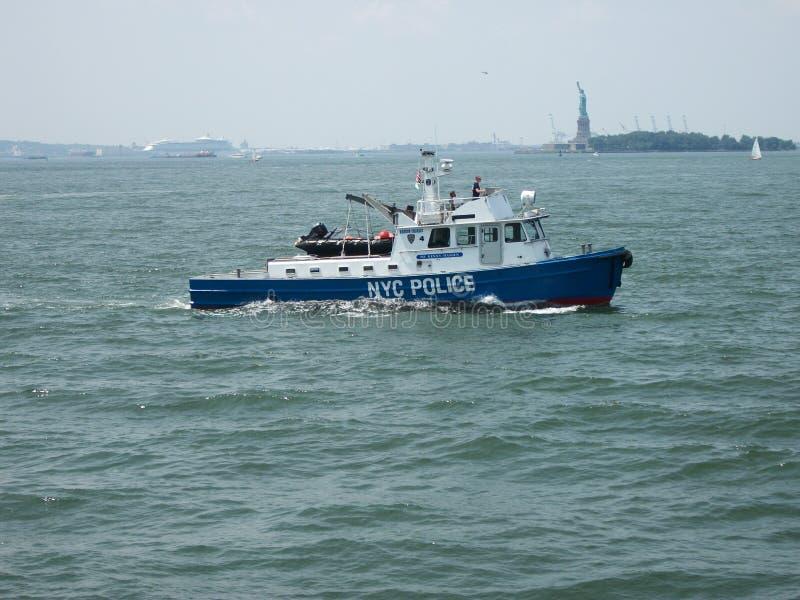 New- Yorkpolizeiboot lizenzfreie stockfotografie