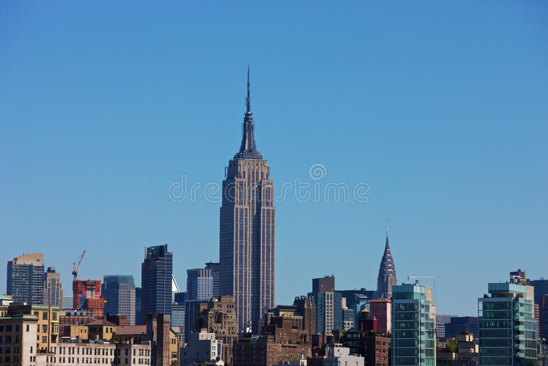 New- YorkSkyline mit Empire State Building lizenzfreie stockbilder