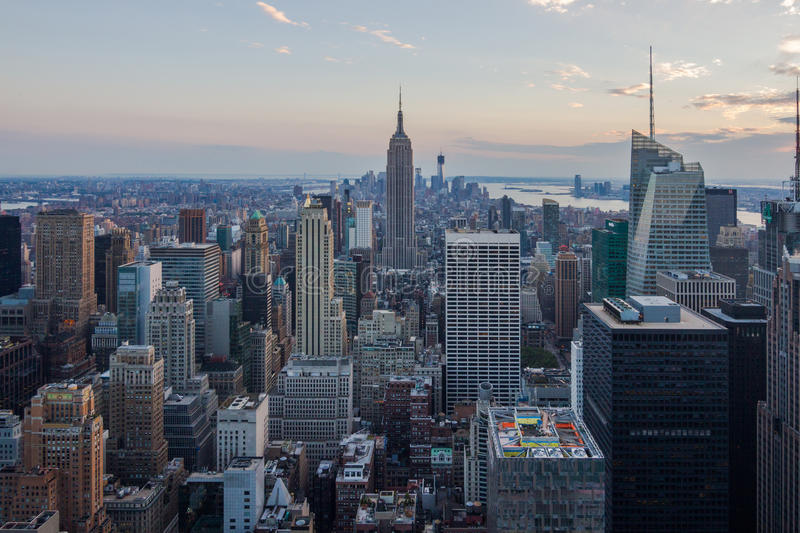 New- YorkSkyline, USA lizenzfreie stockbilder