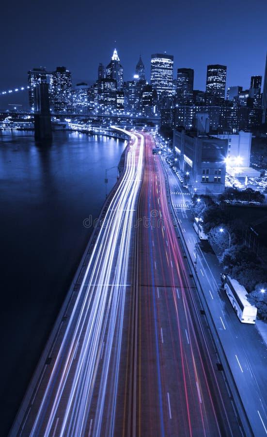 New- Yorkstadt-Verkehr in der Stadt lizenzfreie stockfotografie