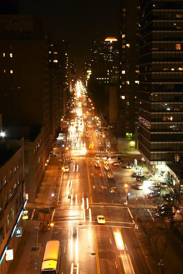 New- Yorkstraße Nachts Lizenzfreies Stockfoto