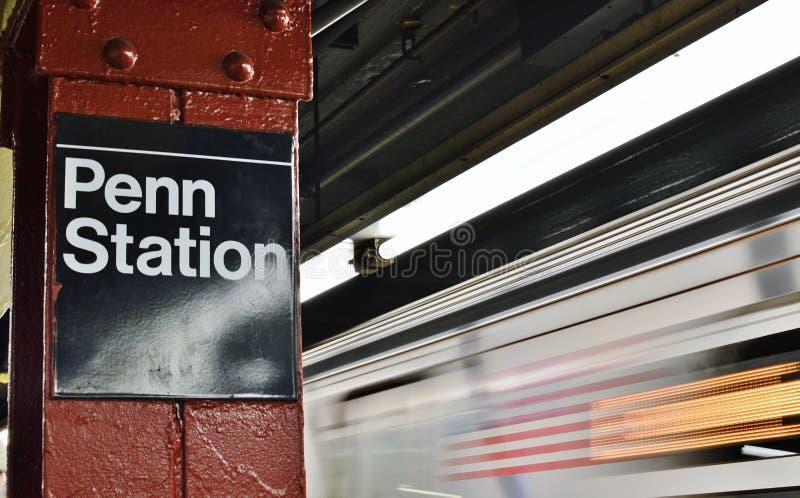 New- YorkUntergrundbahn-Stadt-Transport MTA Penn Station Commute zu arbeiten stockbild