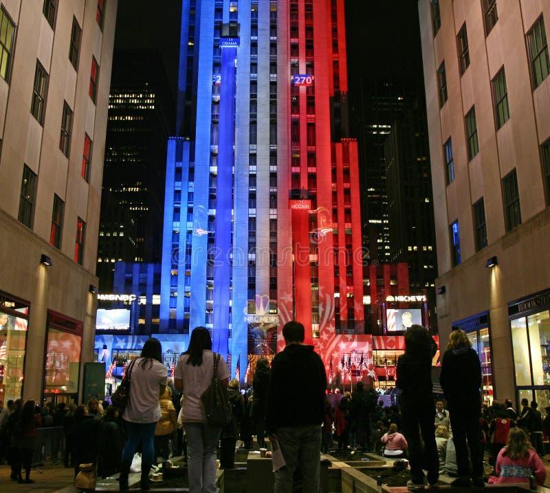 New- Yorkwahl-Nacht lizenzfreie stockbilder