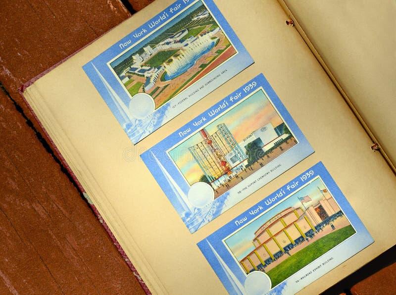 New- Yorkweltmesse-Einklebebuch stockbild