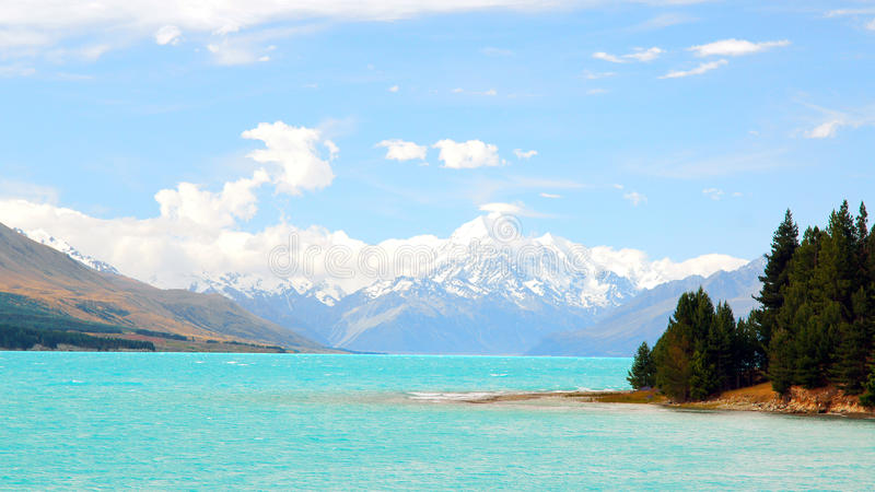 New Zealand湖Punkaki 图库摄影