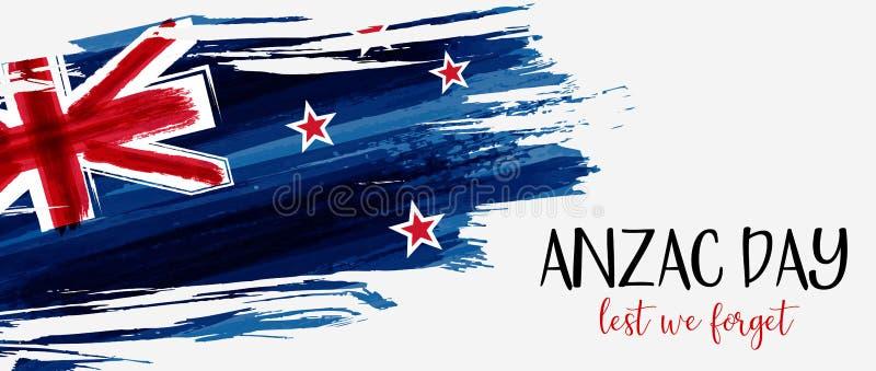 New Zealand Anzac day abnner vector illustration