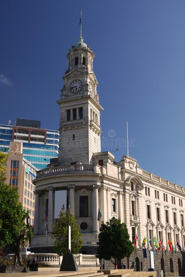 New Zealand: Auckland historic town hall. Historic town hall, Auckland, New Zealand royalty free stock photography