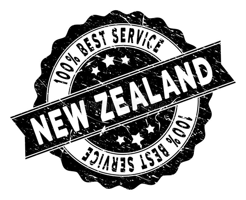 New Zealand Best Service Stamp with Scratched Surface royalty free illustration