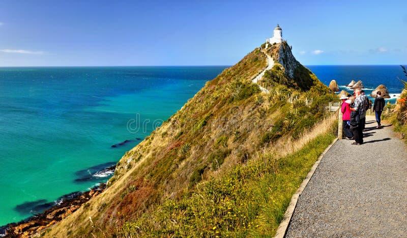 Lighthouse, New Zealand stock photo