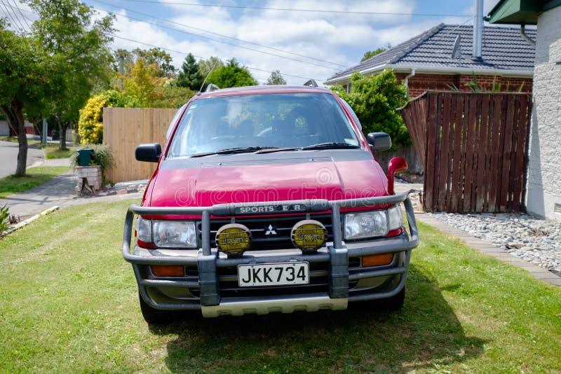 A 1995 Mitsubishi RVR. NEW ZEALAND, CHRISTCHURCH - OCTOBER 2015: A 1995 Mitsubishi RVR in Christchurch, New Zealand. 1st Gen Mitsubishi RVR is a range of cars stock image