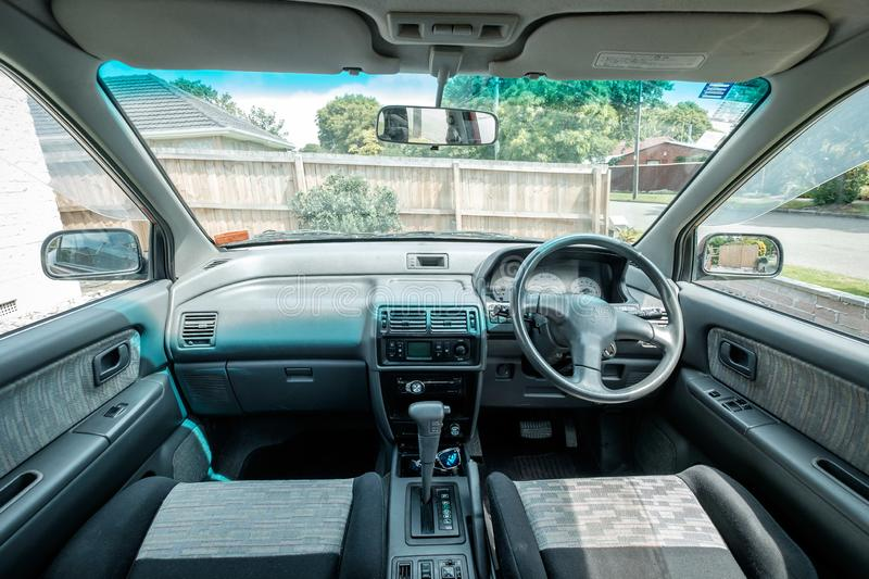 NEW ZEALAND, CHRISTCHURCH - OCTOBER 2015: A 1995 Mitsubishi RVR in Christchurch, New Zealand. 1st Gen Mitsubishi RVR is a range of. Cars produced by Japanese stock photo