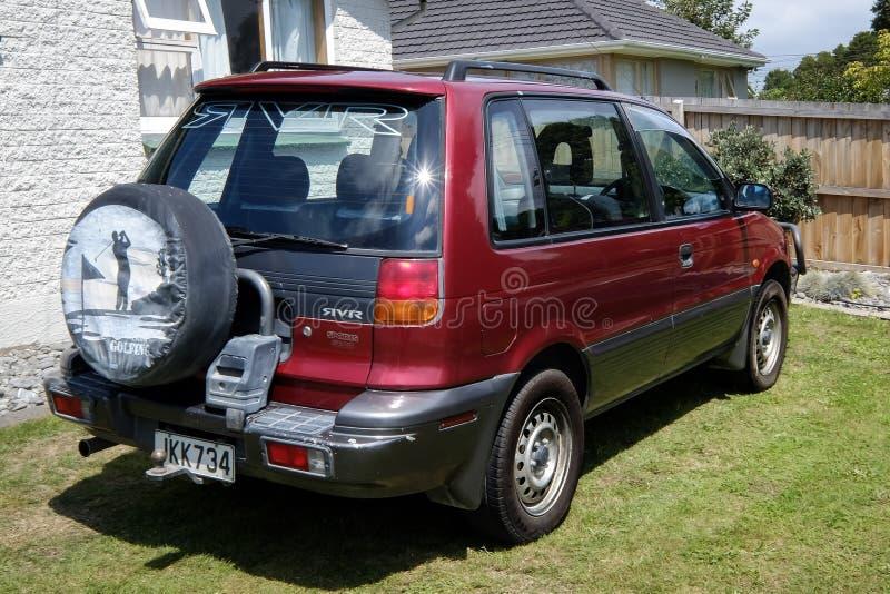 A 1995 Mitsubishi RVR. NEW ZEALAND, CHRISTCHURCH - OCTOBER 2015: A 1995 Mitsubishi RVR in Christchurch, New Zealand. 1st Gen Mitsubishi RVR is a range of cars royalty free stock images