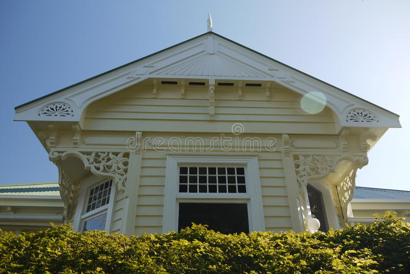 New Zealand: classic wooden villa home royalty free stock photo
