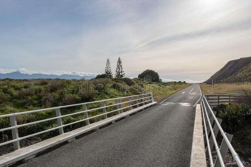 New Zealand Country Road stock photography