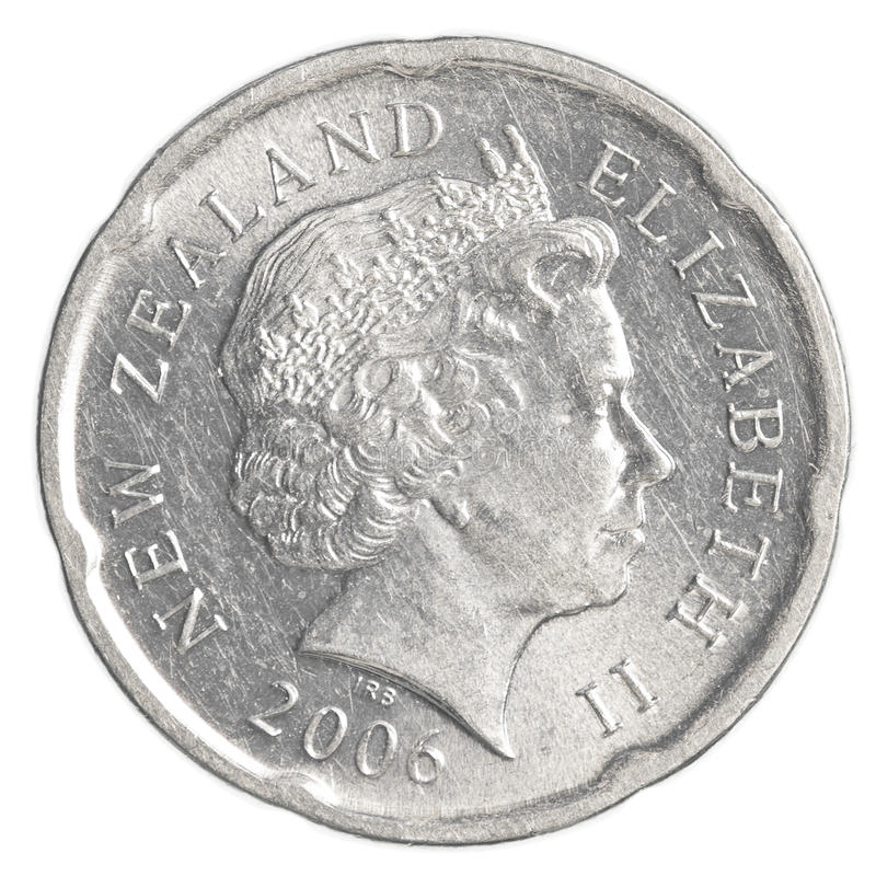 20 New Zealand dollar cents coin royalty free stock images